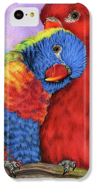 Parakeet iPhone 5c Case - The Color Of Love by Sarah Batalka
