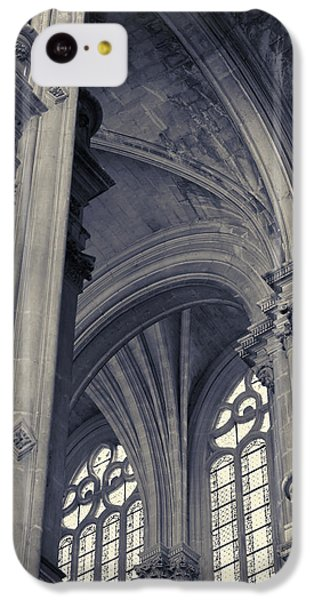 The Columns Of Saint-eustache, Paris, France. IPhone 5c Case by Richard Goodrich