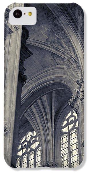 IPhone 5c Case featuring the photograph The Columns Of Saint-eustache, Paris, France. by Richard Goodrich