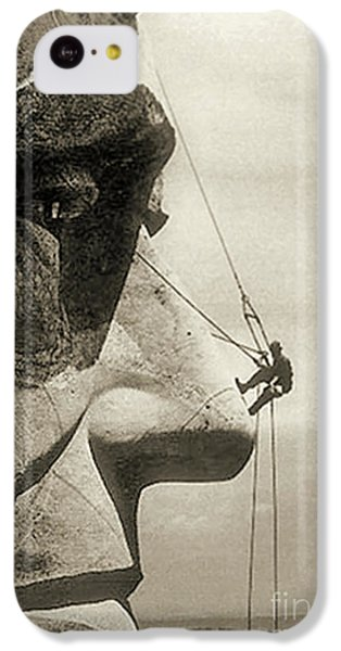 The Construction Of The Mount Rushmore National Memorial, Detail Of Abraham Lincoln,1928  IPhone 5c Case by American School