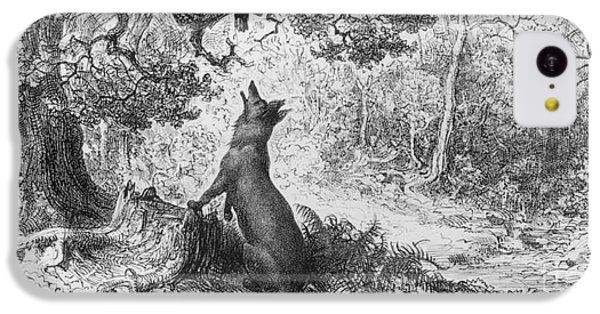 The Crow And The Fox IPhone 5c Case by Gustave Dore