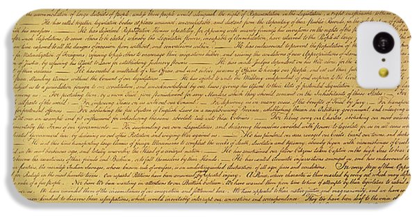 The Declaration Of Independence IPhone 5c Case