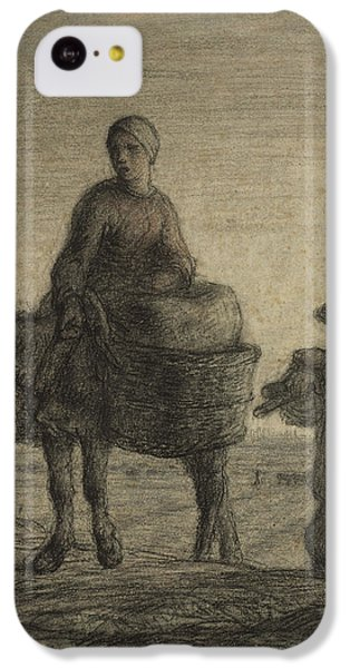 The Departure For Work IPhone 5c Case by Jean-Francois Millet