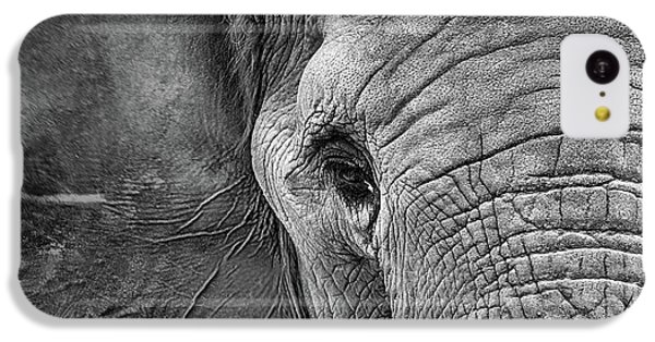 The Elephant In Black And White IPhone 5c Case