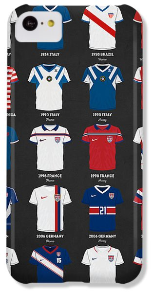 The Evolution Of The Us World Cup Soccer Jersey IPhone 5c Case by Taylan Apukovska