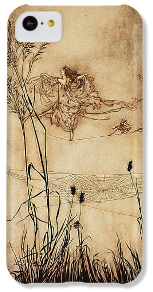 The Fairy's Tightrope From Peter Pan In Kensington Gardens IPhone 5c Case by Arthur Rackham
