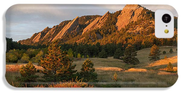 The Flatirons - Autumn IPhone 5c Case by Aaron Spong