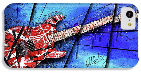 The Frankenstrat On Blue I IPhone 5c Case
