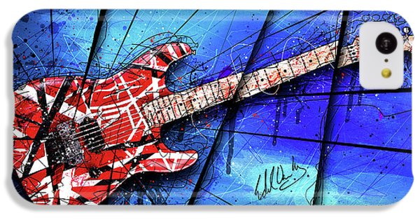 The Frankenstrat On Blue I IPhone 5c Case by Gary Bodnar