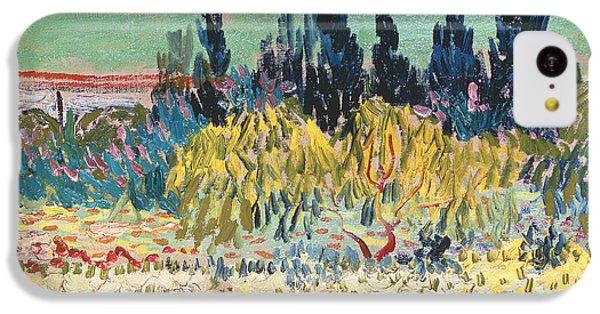 Garden iPhone 5c Case - The Garden At Arles  by Vincent Van Gogh