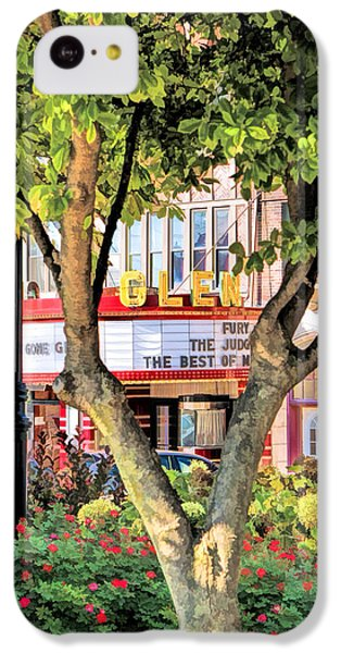 IPhone 5c Case featuring the painting The Glen Movie Theater by Christopher Arndt