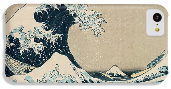 Transportation iPhone 5c Case - The Great Wave Of Kanagawa by Hokusai