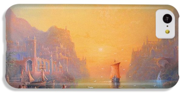 The Grey Havens. The Gulls Lament.  Oil On Canvas IPhone 5c Case by Joe  Gilronan