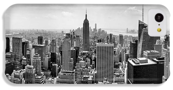 Castle iPhone 5c Case - New York City Skyline Bw by Az Jackson