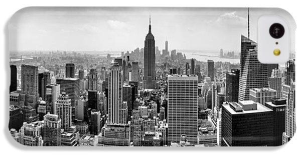 Apple iPhone 5c Case - New York City Skyline Bw by Az Jackson
