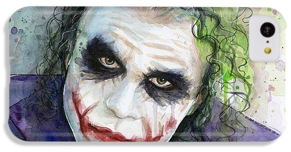 The iPhone 5c Case - The Joker Watercolor by Olga Shvartsur
