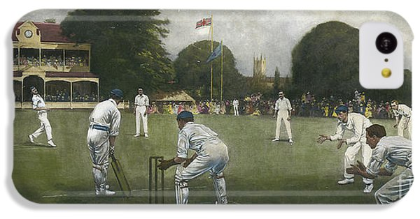 Cricket iPhone 5c Case - The Kent Eleven Champions, 1906 by Albert Chevallier Tayler