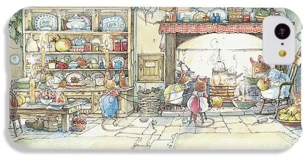 Mouse iPhone 5c Case - The Kitchen At Crabapple Cottage by Brambly Hedge