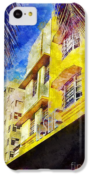 The Leslie Hotel South Beach IPhone 5c Case by Jon Neidert