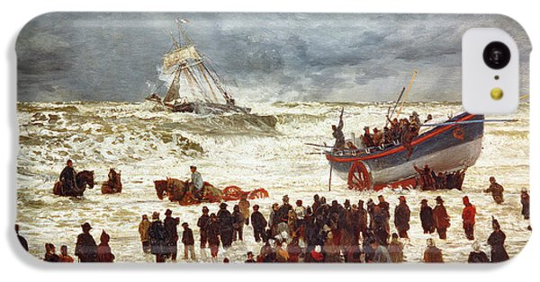 Boat iPhone 5c Case - The Lifeboat by William Lionel Wyllie
