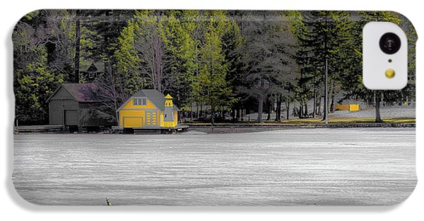 IPhone 5c Case featuring the photograph The Lighthouse On Frozen Pond by David Patterson