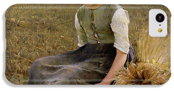 Rural Scenes iPhone 5c Case - The Little Gleaner by Hugo Salmson