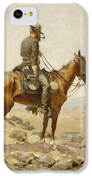 Horse iPhone 5c Case - The Lookout by Frederic Remington