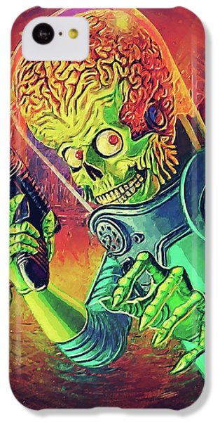 Jack Nicholson iPhone 5c Case - The Martian - Mars Attacks by Taylan Soyturk