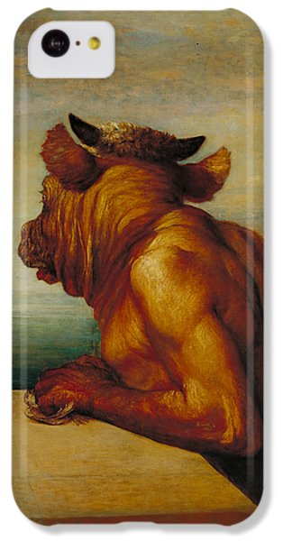 Minotaur iPhone 5c Case - The Minotaur by George Frederic Watts