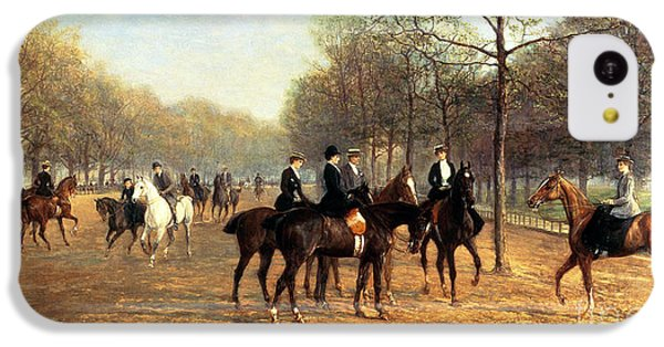 The Morning Ride Rotten Row Hyde Park IPhone 5c Case by Heywood Hardy