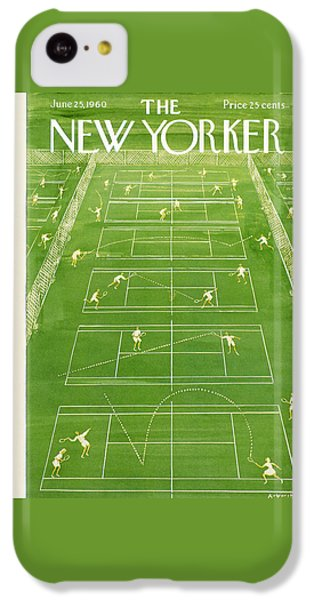 Tennis iPhone 5c Case - The New Yorker Cover - June 25th, 1960 by Anatol Kovarsky