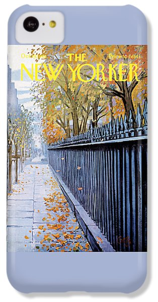 Broadway iPhone 5c Case - Autumn In New York by Arthur Getz