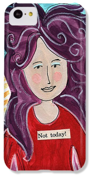 Fairy iPhone 5c Case - The Not Today Fairy- Art By Linda Woods by Linda Woods
