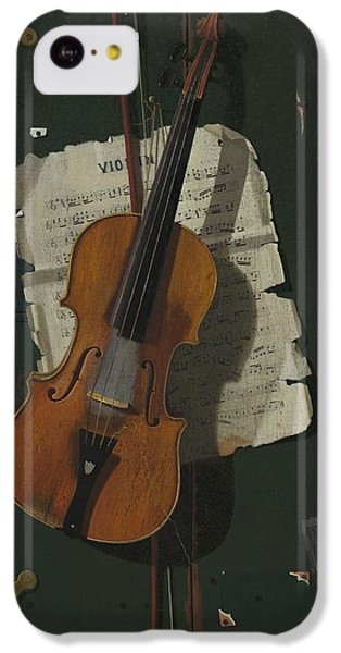Violin iPhone 5c Case - The Old Violin by John Frederick Peto