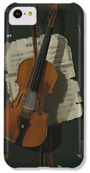 The Old Violin IPhone 5c Case by John Frederick Peto