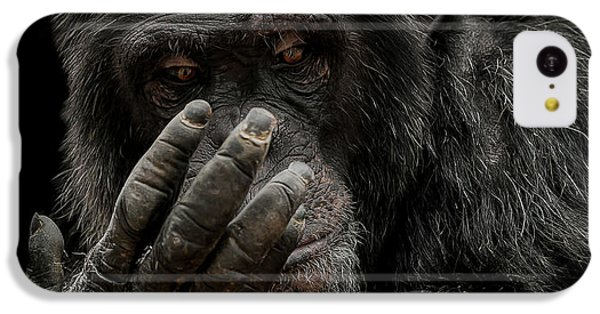 Chimpanzee iPhone 5c Case - The Palm Reader by Paul Neville
