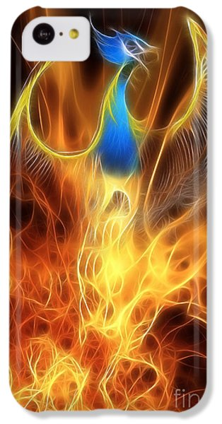 Dragon iPhone 5c Case - The Phoenix Rises From The Ashes by John Edwards