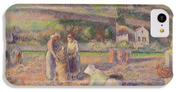 The Potato Harvest IPhone 5c Case by Camille Pissarro