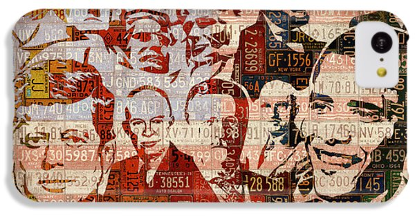 The Presidents Past Recycled Vintage License Plate Art Collage IPhone 5c Case