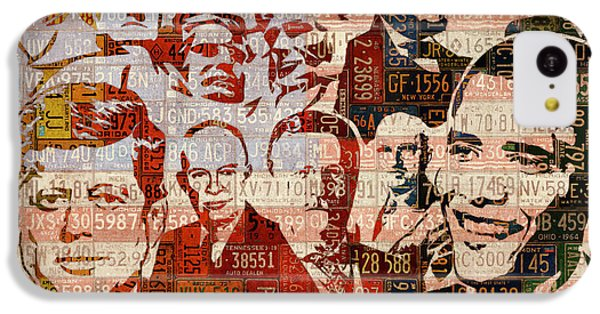 The Presidents Past Recycled Vintage License Plate Art Collage IPhone 5c Case by Design Turnpike