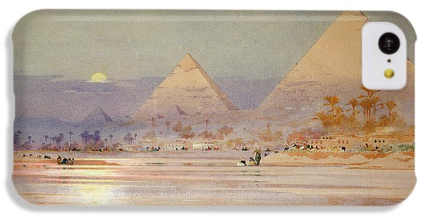 Desert iPhone 5c Case - The Pyramids At Dusk by Augustus Osborne Lamplough
