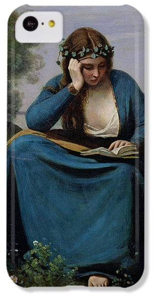 The Reader Crowned With Flowers IPhone 5c Case by Jean Baptiste Camille Corot