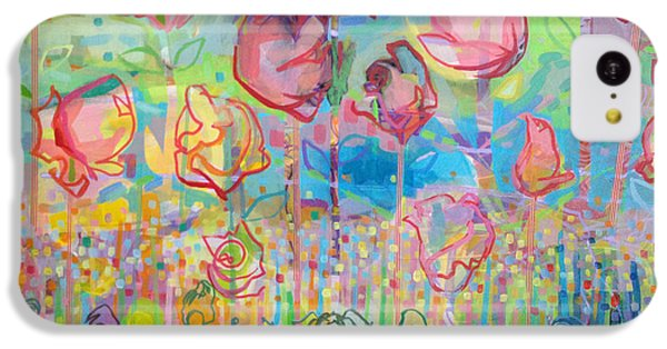 Valentines Day iPhone 5c Case - The Rose Garden, Love Wins by Kimberly Santini