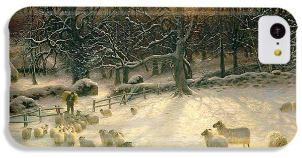 Sheep iPhone 5c Case - The Shortening Winters Day Is Near A Close by Joseph Farquharson