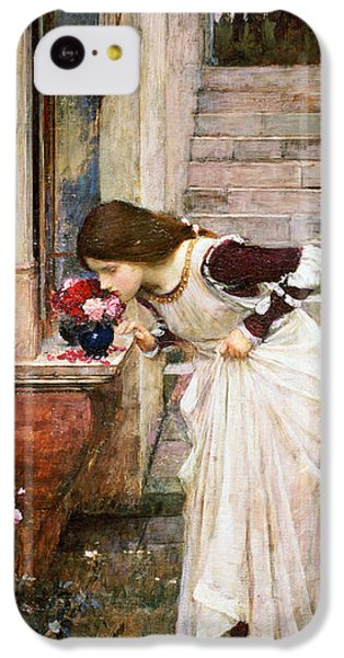 Rose iPhone 5c Case - The Shrine by John William Waterhouse