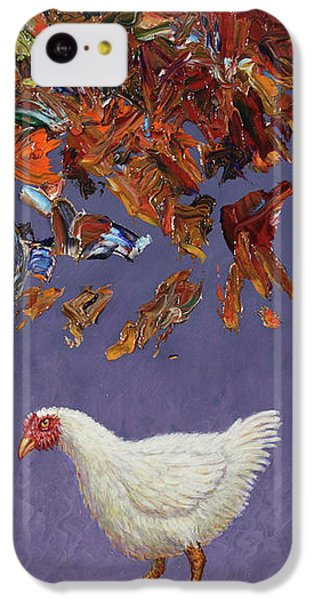 Chicken iPhone 5c Case - The Sky Is Falling by James W Johnson