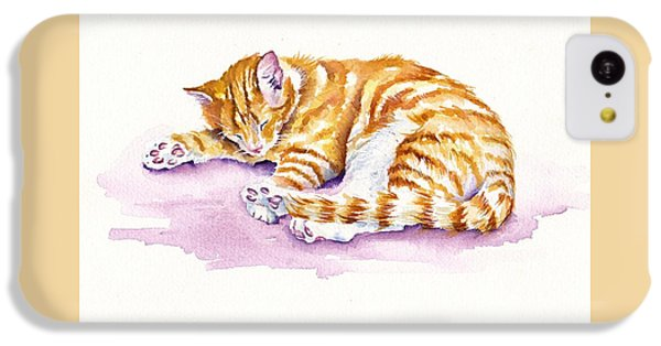Cat iPhone 5c Case - The Sleepy Kitten by Debra Hall