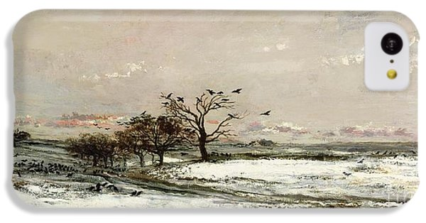 Rural Scenes iPhone 5c Case - The Snow by Charles Francois Daubigny