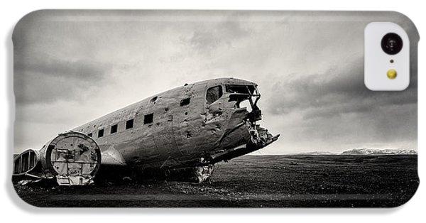Airplane iPhone 5c Case - The Solheimsandur Plane Wreck by Tor-Ivar Naess