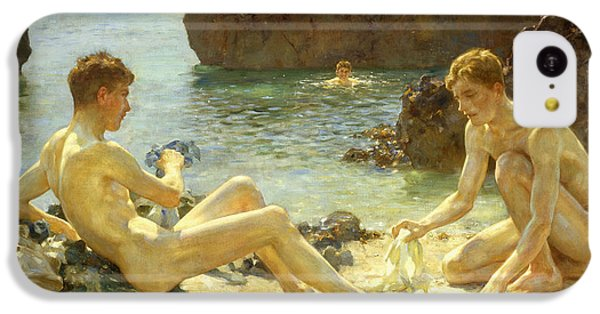 Nudes iPhone 5c Case - The Sun Bathers by Henry Scott Tuke